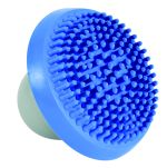 Shampoo- und Massagebürste blau/grau