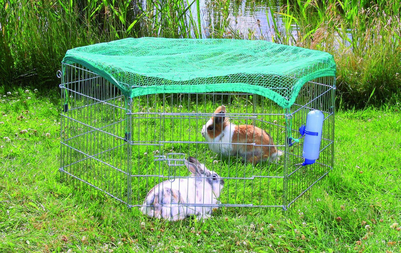 Сделать вольер для кролика